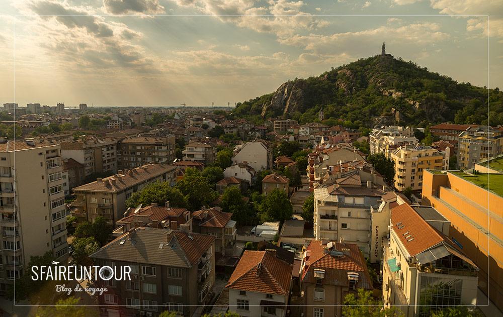 Coucher de soleil sur Plovdiv