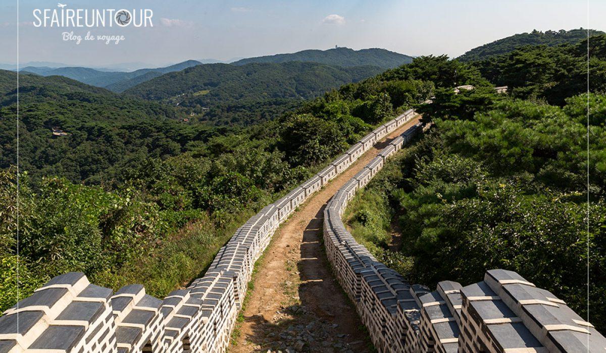 Namhansanseong, mur d'enceinte cerné de verdure