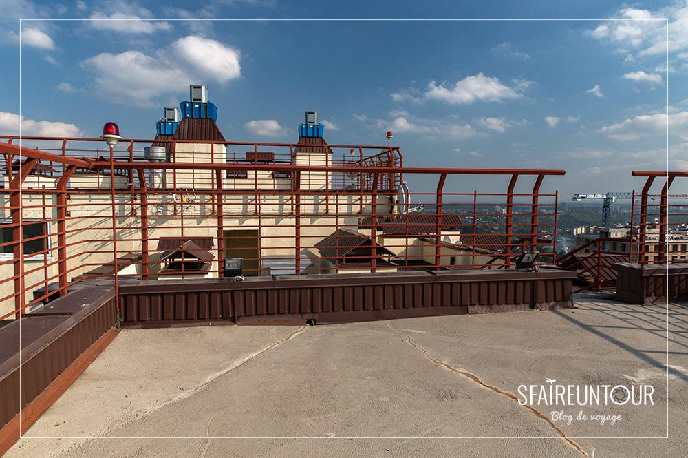 toit d'un building de Kiev
