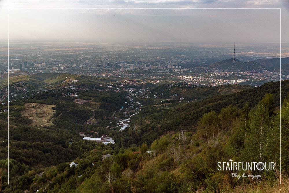 Vue sur Almaty