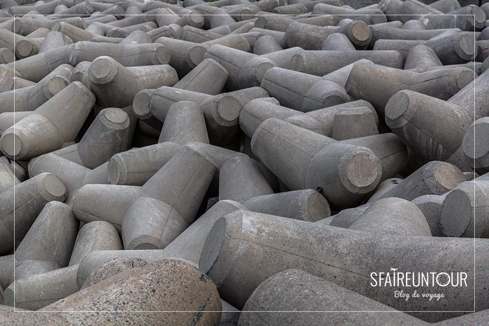 blocs de béton portuaires Busan