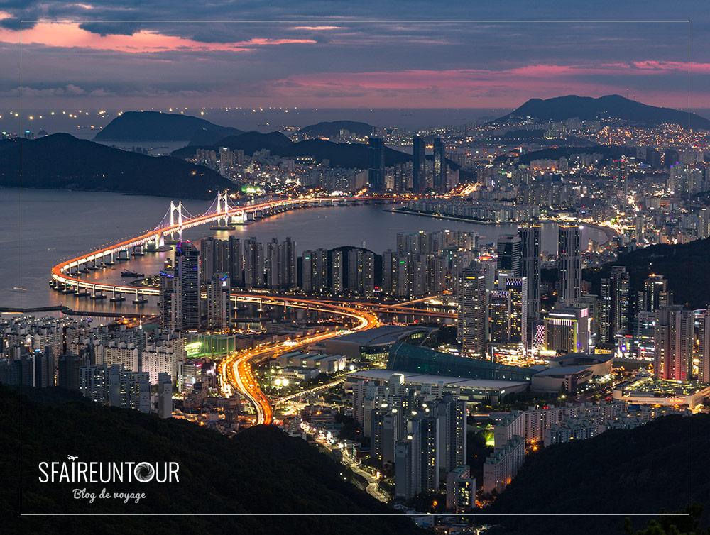 Busan vue de nuit