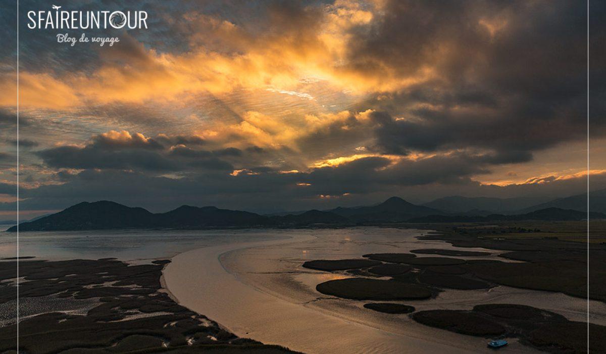 Suncheon bay et son magnifique coucher de soleil